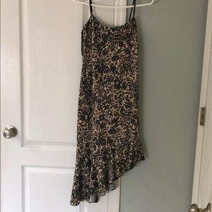 NWT!  Asymmetrical cream and black dress